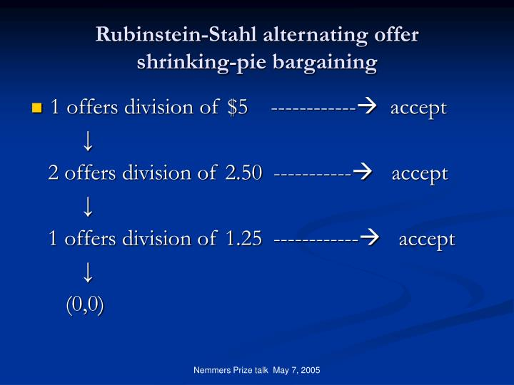 Rubinstein-Stahl alternating offer