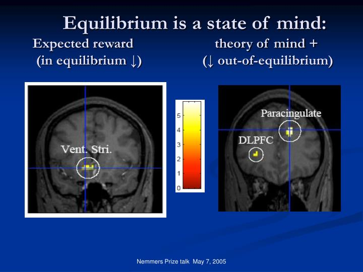 Equilibrium is a state of mind: