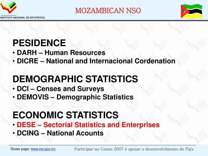 MOZAMBICAN NSO