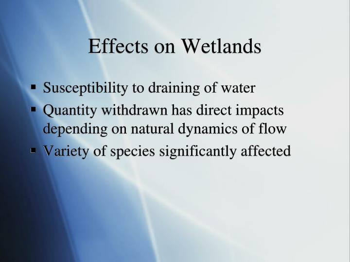 Effects on Wetlands