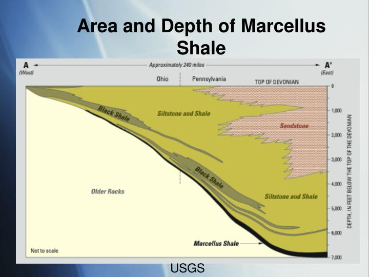 Area and Depth of Marcellus Shale