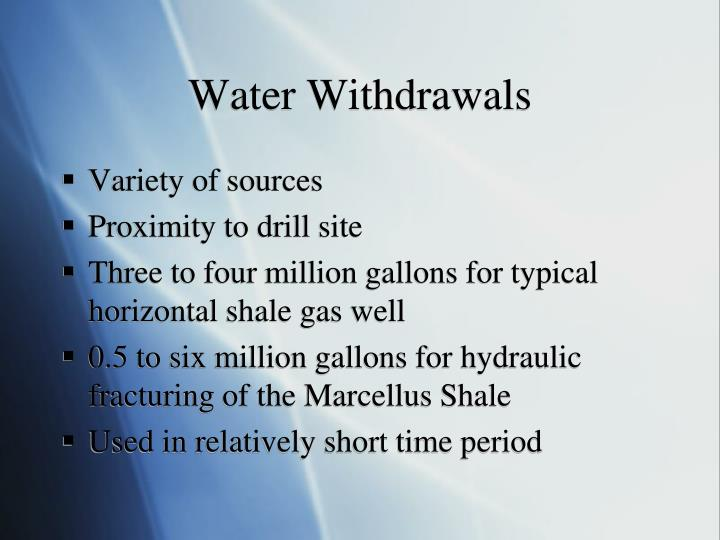 Water Withdrawals