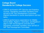 college board standards for college success5