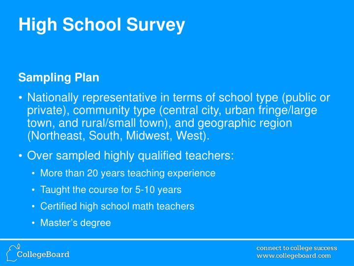 High School Survey