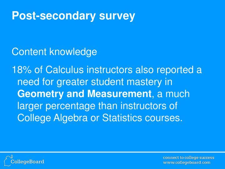 Post-secondary survey