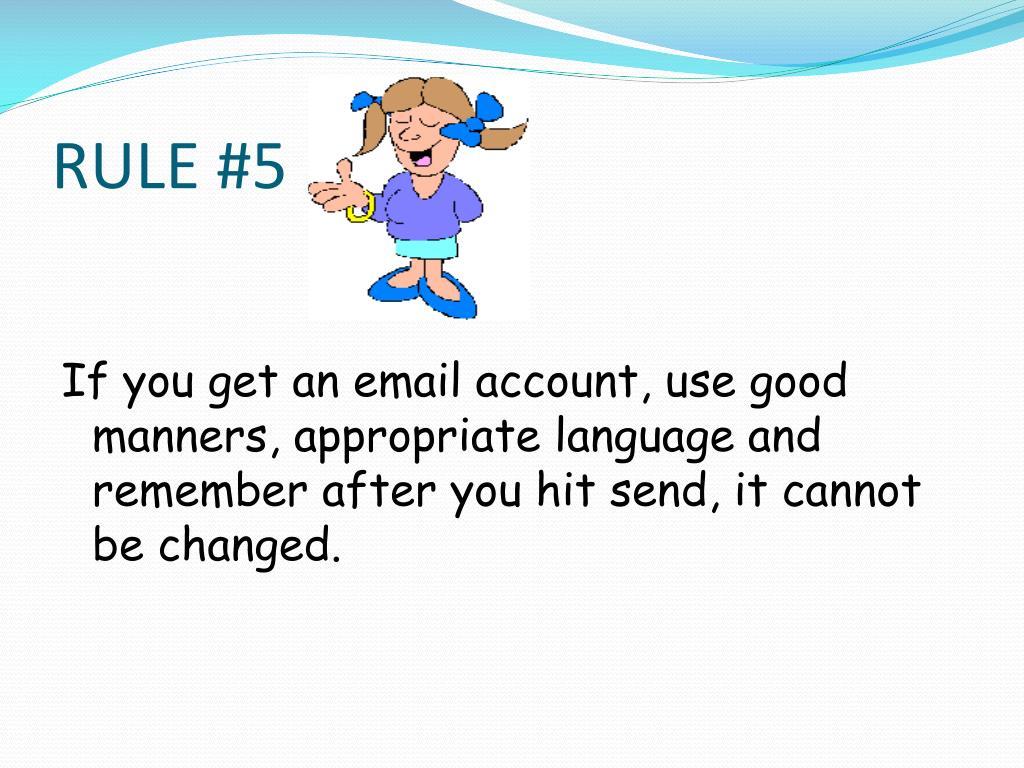 RULE #5