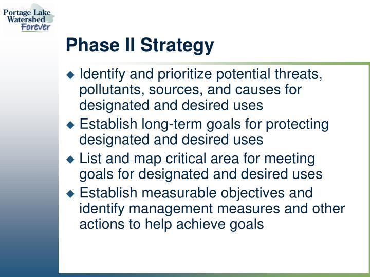 Phase II Strategy