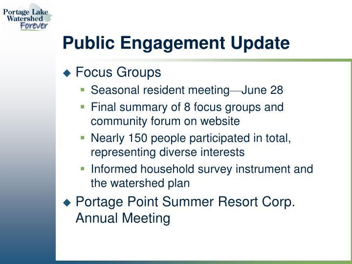 Public Engagement Update