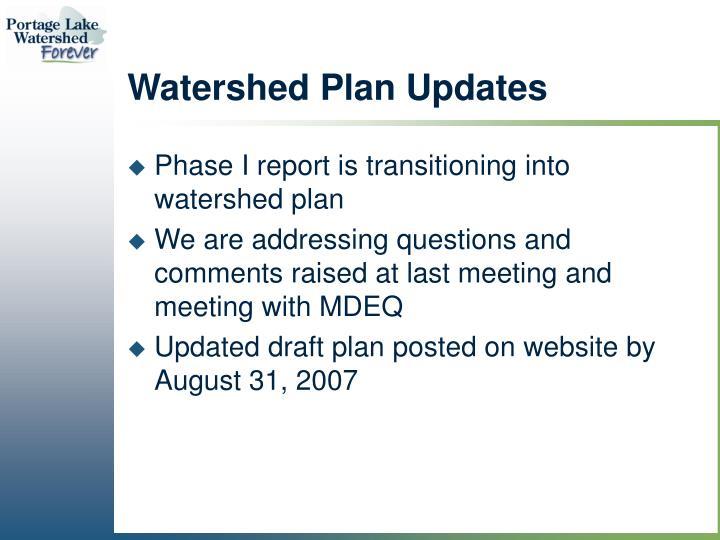 Watershed Plan Updates