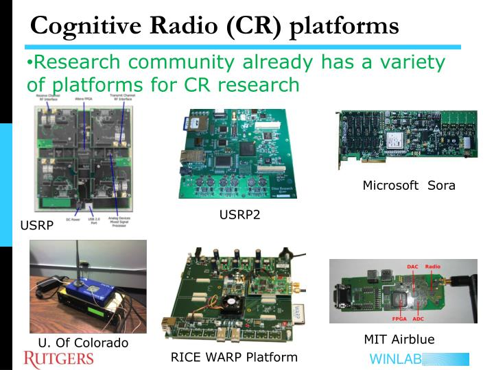 Cognitive radio cr p latforms