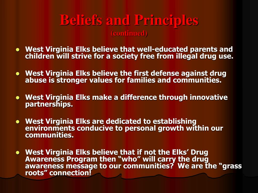Beliefs and Principles
