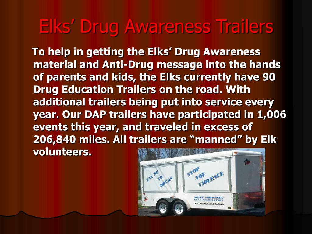 Elks' Drug Awareness Trailers