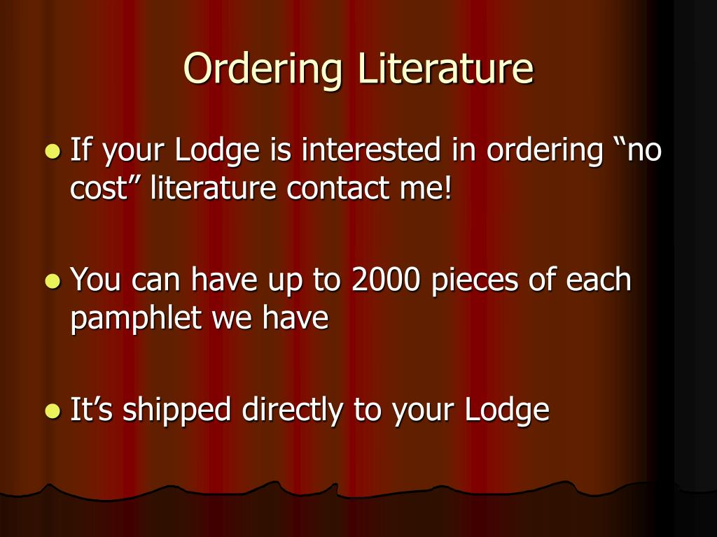Ordering Literature