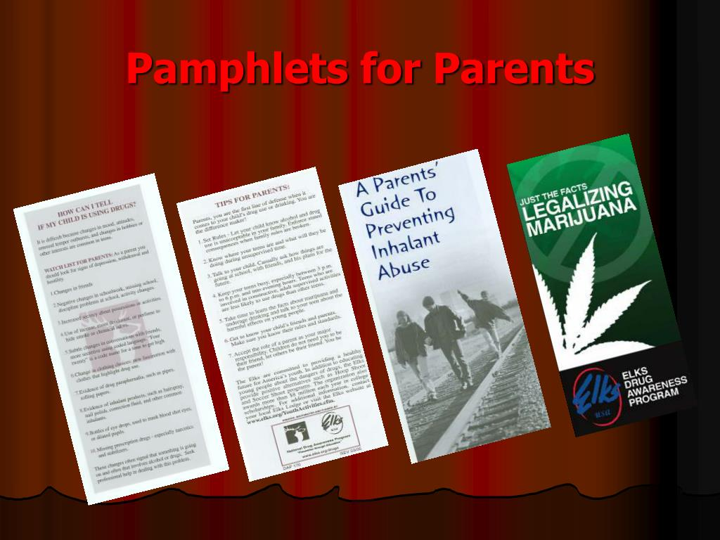 Pamphlets for Parents