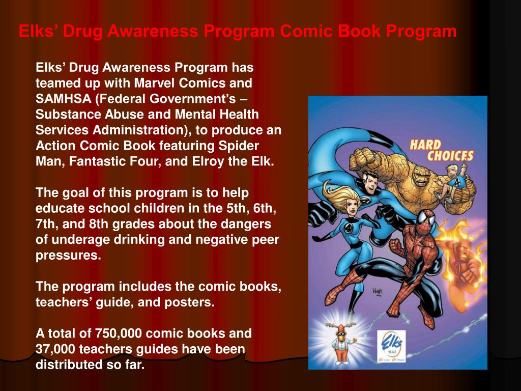Elks' Drug Awareness Program Comic Book Program