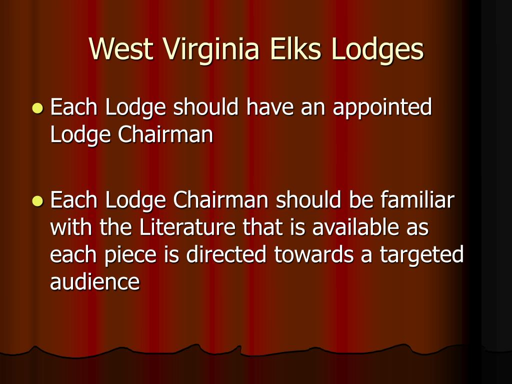 West Virginia Elks Lodges