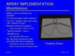 array implementation miscellaneous