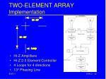 two element array implementation