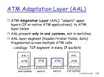 atm adaptation layer aal