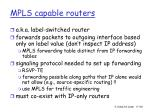 mpls capable routers