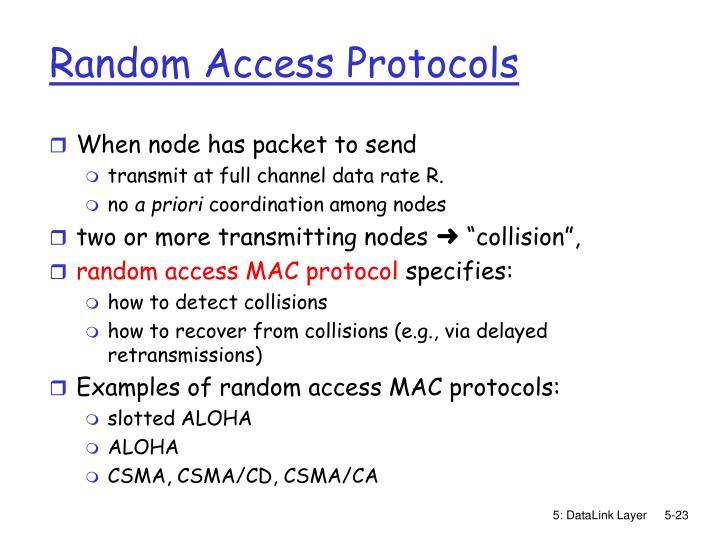 Random Access Protocols