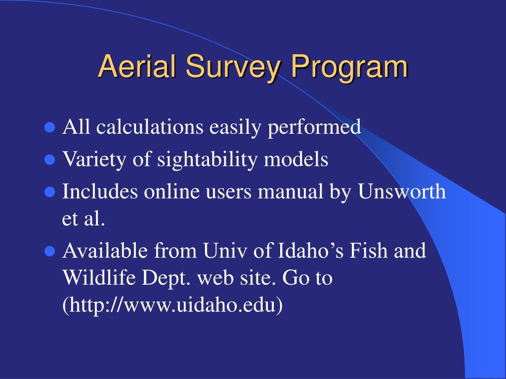 Aerial Survey Program