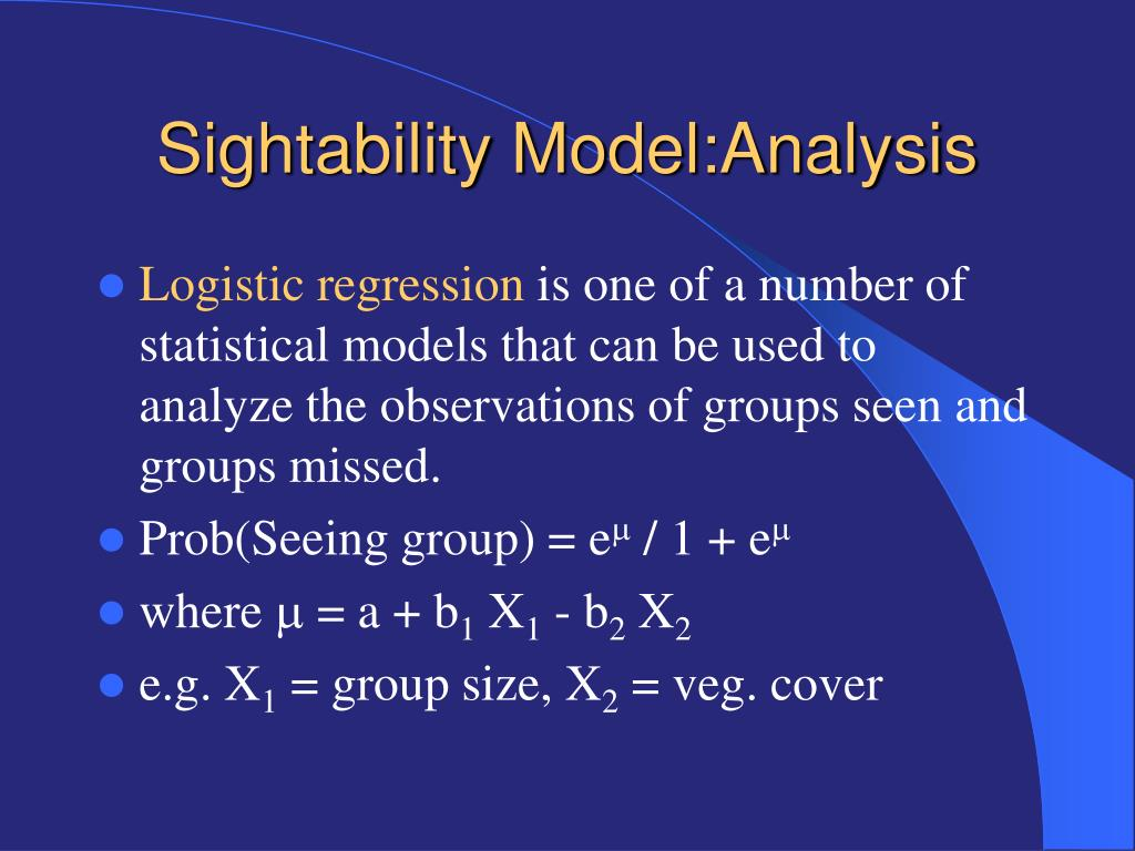 Sightability Model:Analysis