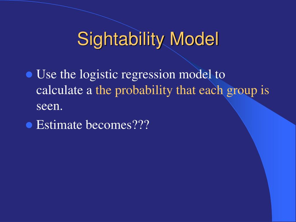 Sightability Model