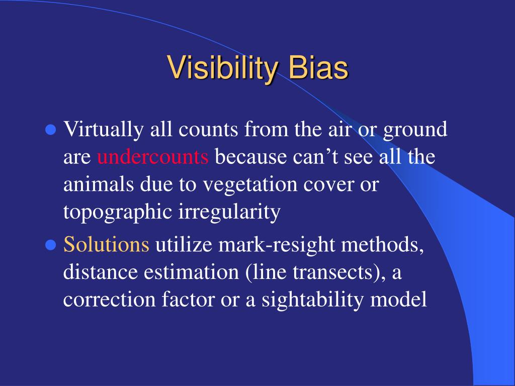 Visibility Bias