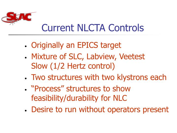 Current nlcta controls