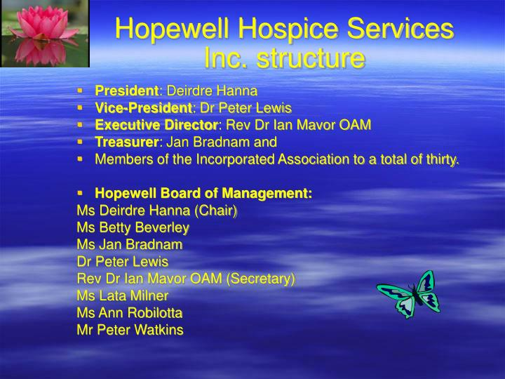 Hopewell hospice services inc structure