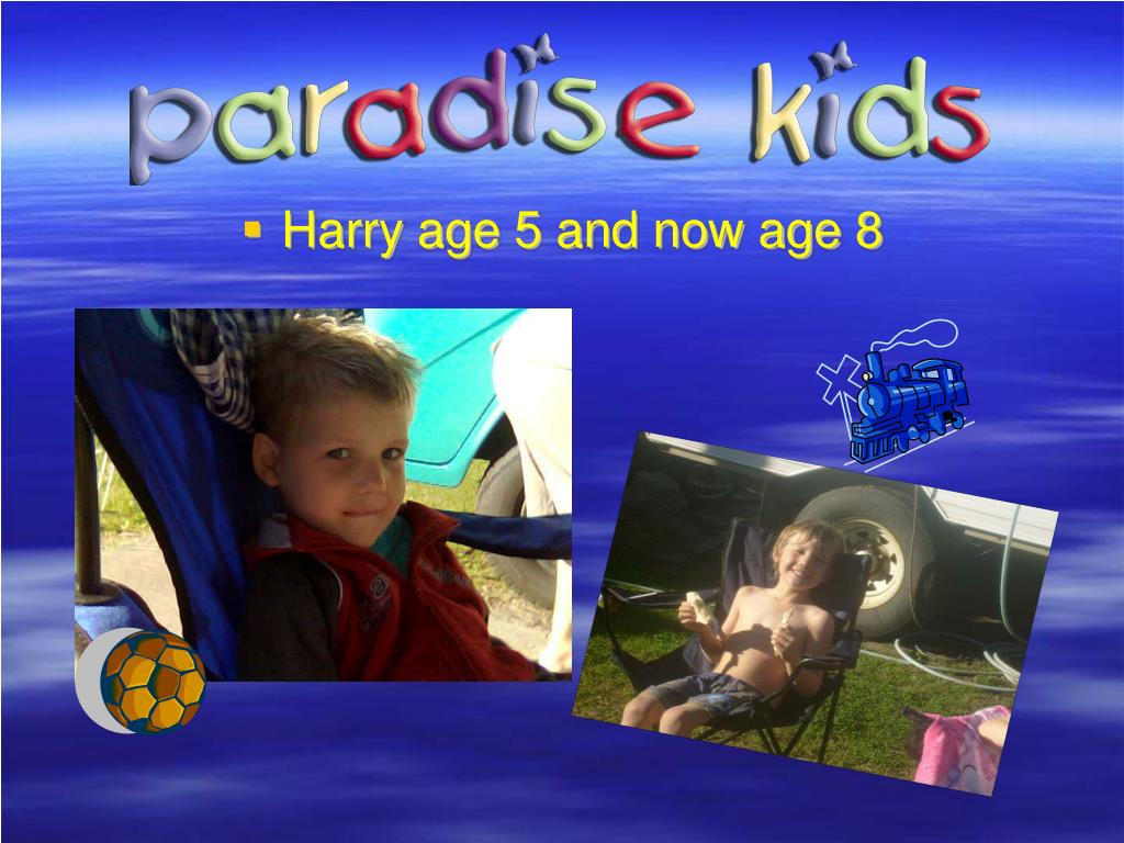 Harry age 5 and now age 8