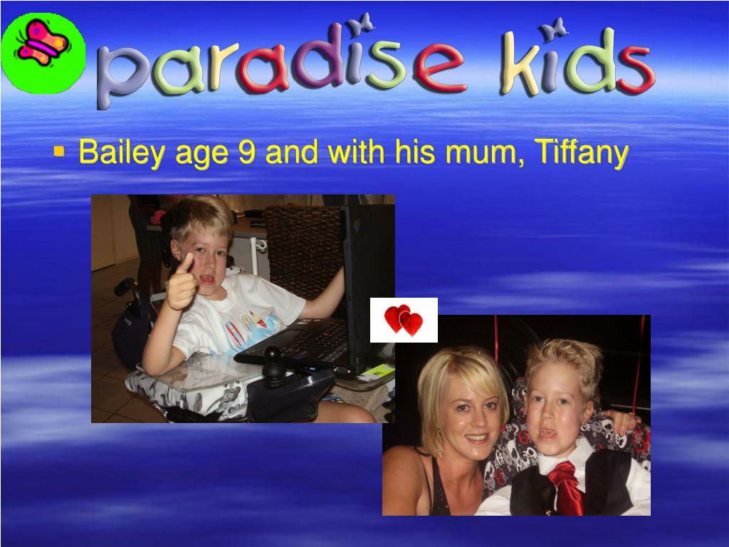 Bailey age 9 and with his mum, Tiffany