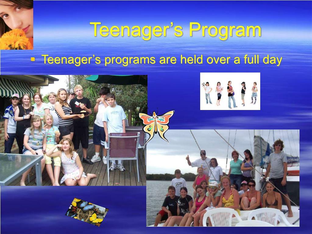 Teenager's Program