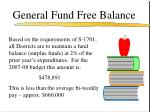general fund free balance