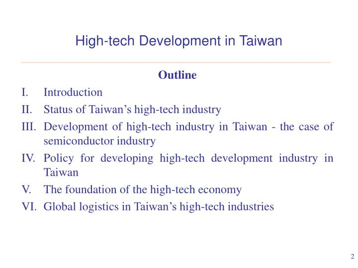 High tech development in taiwan