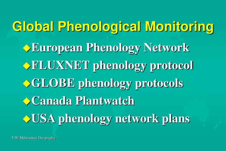Global Phenological Monitoring