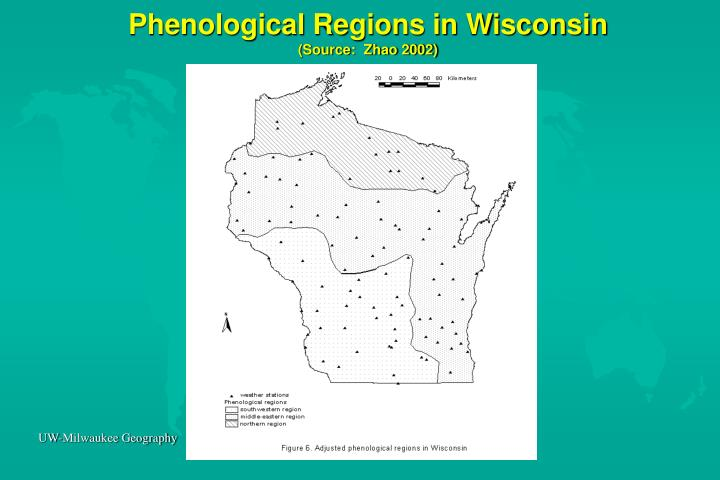 Phenological Regions in Wisconsin