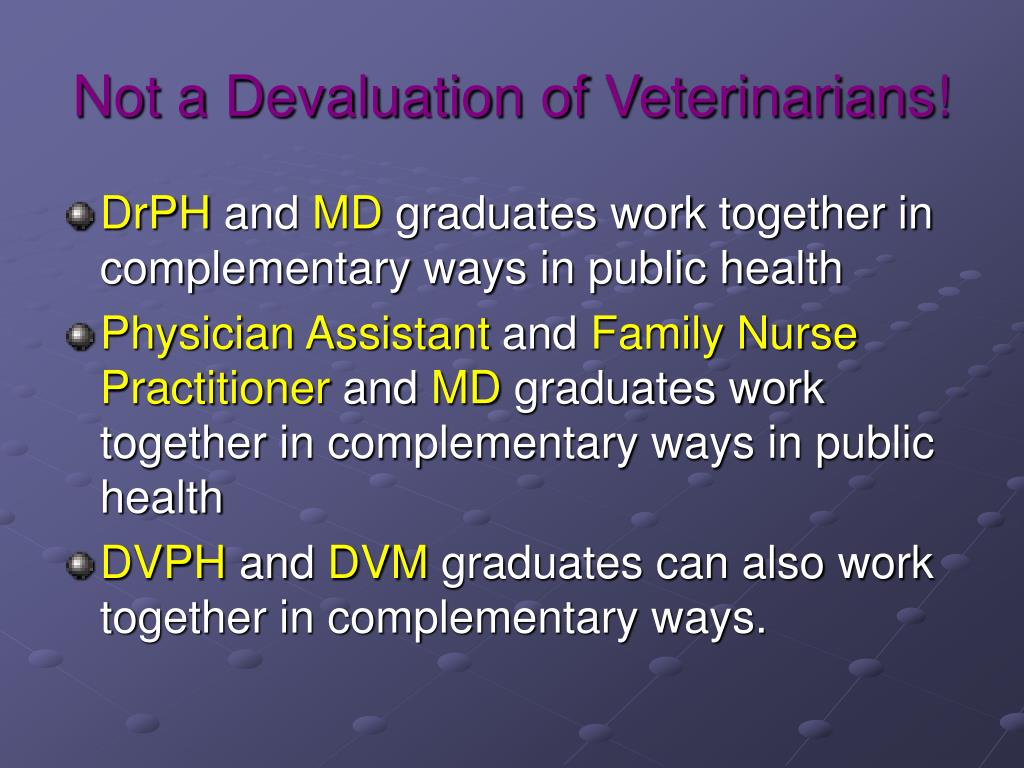 Not a Devaluation of Veterinarians!
