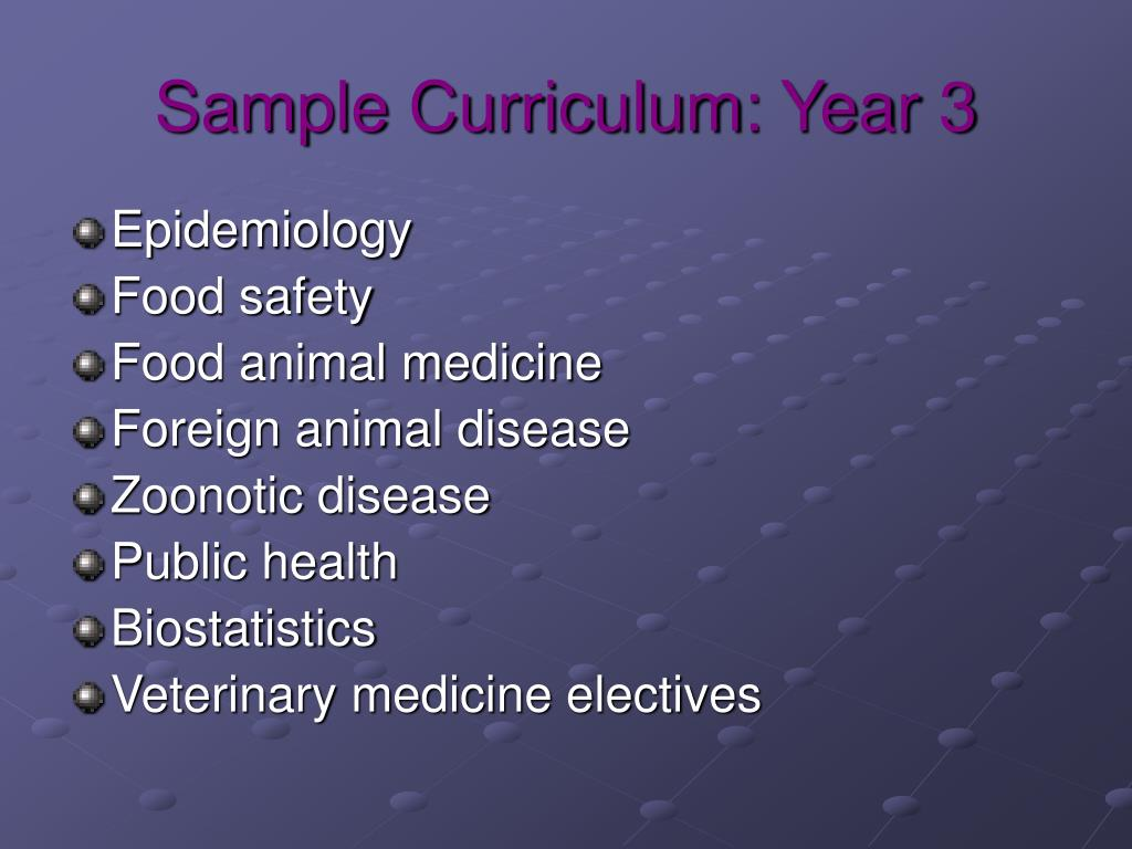 Sample Curriculum: Year 3