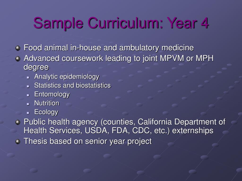 Sample Curriculum: Year 4