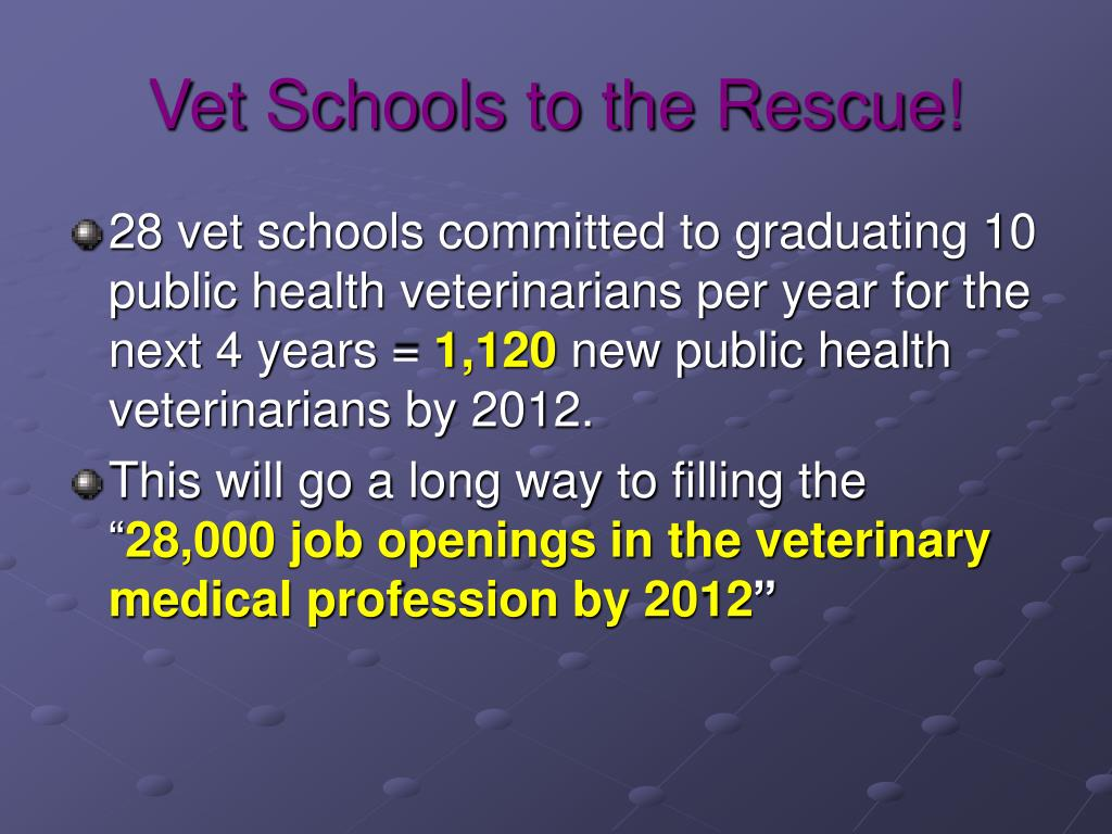 Vet Schools to the Rescue!