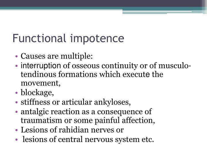 Functional impotence