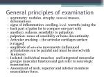 general principles of examination