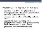pediatrics in republic of moldova