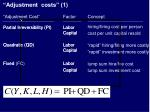 adjustment costs 11