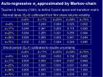 auto regressive t approximated by markov chain