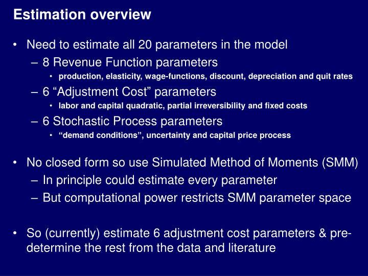 Estimation overview