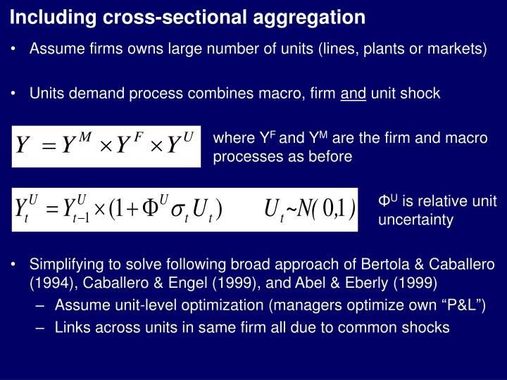 Including cross-sectional aggregation