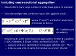 including cross sectional aggregation